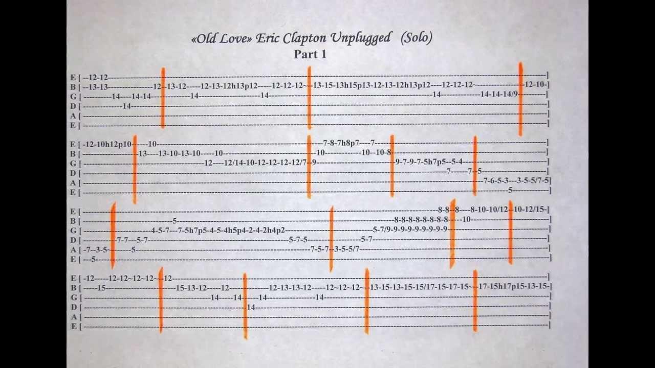 Old love Unplugged    solo tab Chords   Chordify