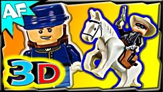 3D CAVALRY BUILDER Lego Lone Ranger set 79106 Animated Review