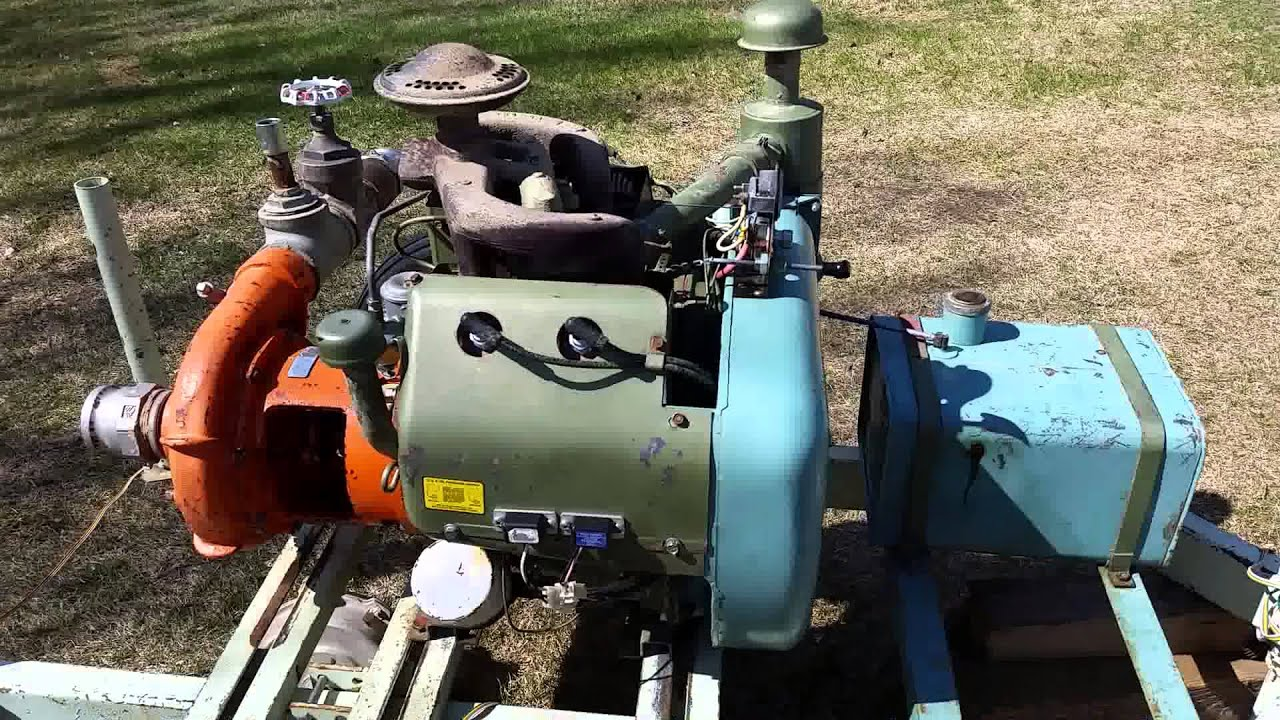 Wisconsin VH4D Motor with pump attachment by Jason Miller