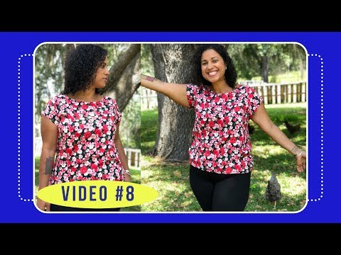 Butterick 6214 Sew Along with Crafty Gemini: Video #8: How to Finish Neckline and Hem Blouse
