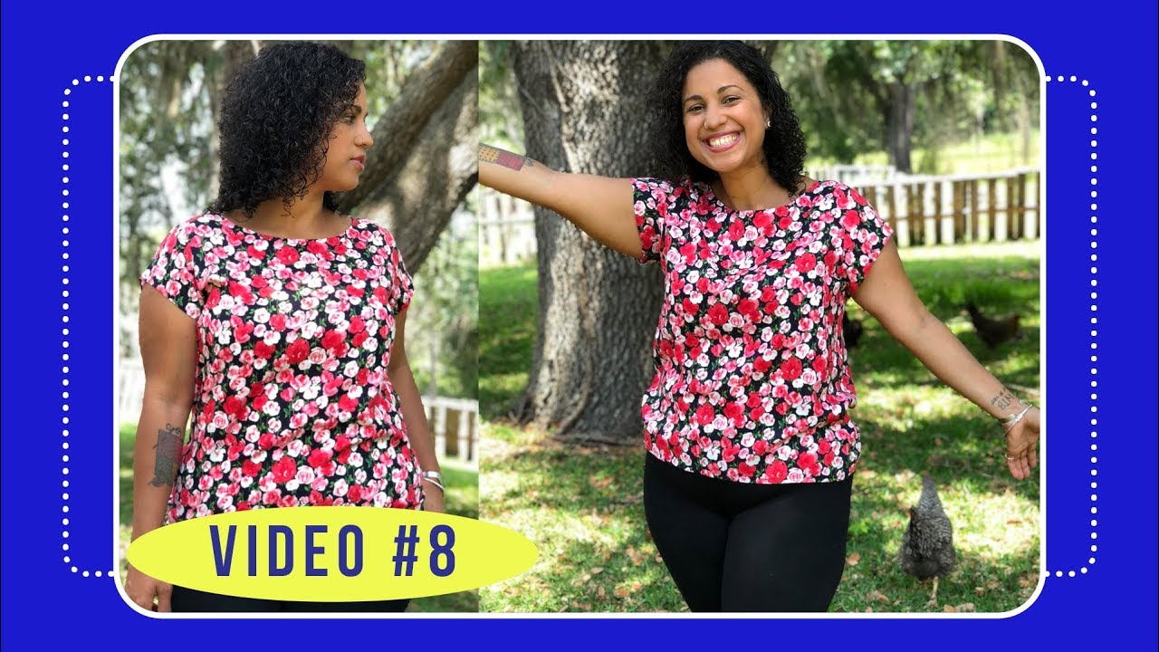 8adef4a29cb07c Butterick 6214 Sew Along with Crafty Gemini: Video #8: How to Finish  Neckline and Hem Blouse