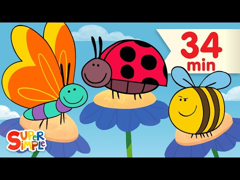 Butterfly Ladybug Bumblebee   + More Kids Songs   Super Simple Songs