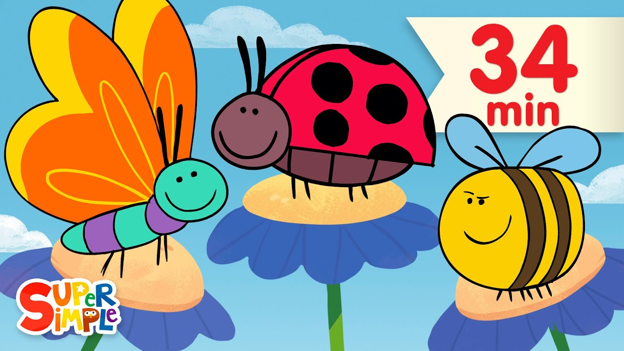 Download Butterfly Ladybug Bumblebee | + More Kids Songs | Super Simple Songs