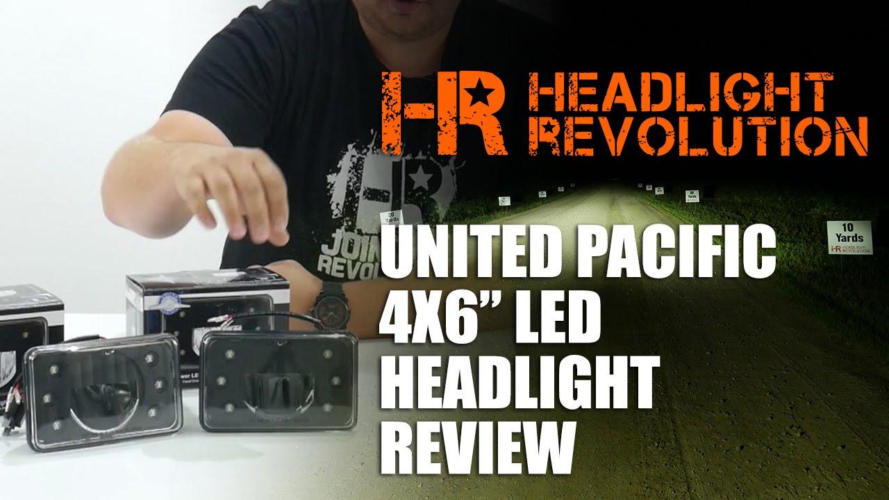 medium resolution of united pacific 4x6 led headlight review headlight revolution youtube