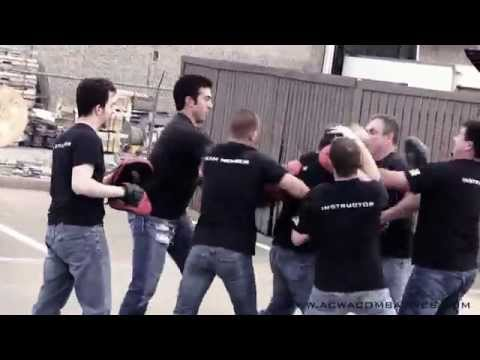 A.C.W.A. Combatives - Defense Against Gang Attack Drill