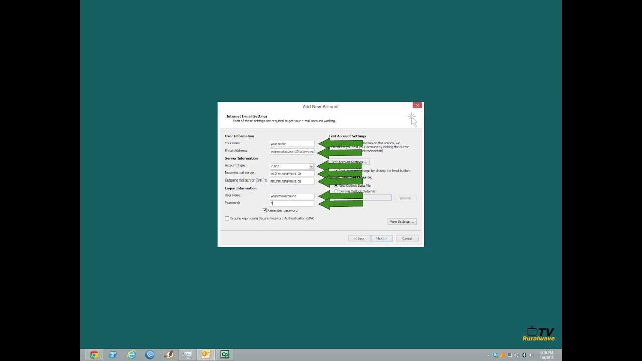 Windows 8 - Outlook 2010