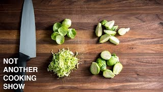 4 EASY WAYS TO CUT BRUSSELS SPROUTS