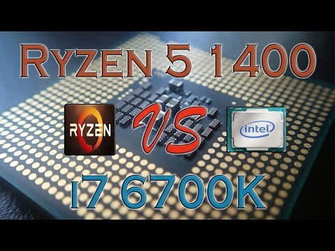 RYZEN 5 1400 Vs I7 6700K - BENCHMARKS / GAMING TESTS REVIEW AND COMPARISON / Ryzen Vs Skylake