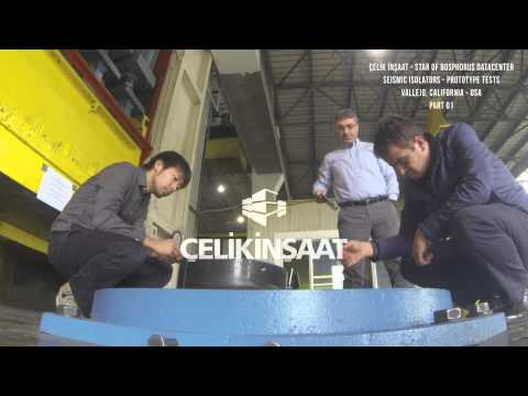 Çelik İnşaat - Star of Bosphorus Datacenter Seismic Isolators Prototype Tests, California USA