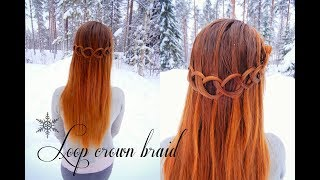 Loop Waterfall Crown Braid | Quick & Easy Hairstyle | How to Hair DIY