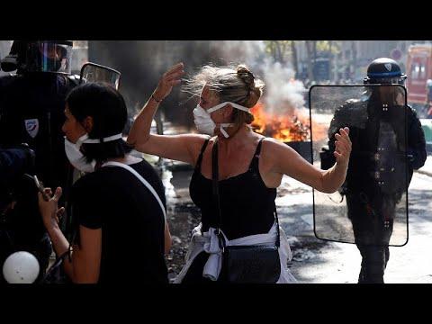 euronews (deutsch): 150 Festnahmen bei Gewaltausbrüchen in Paris: