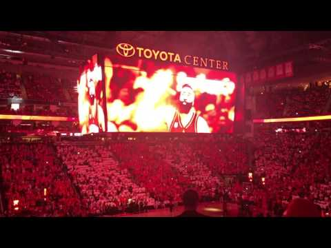 Houston Rockets Intro and Starting Lineup-2017 Playoffs