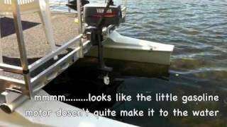 Gasoline / Electric Catamaran Hobie Cat Pontoon Conversion