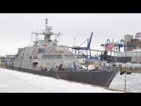 Navy's new warship stuck in ice in Canada