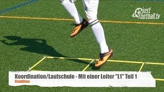 """Fussballtraining: Mit einer Leiter """"L1"""" Teil 1 - Koordination - Kondition"""