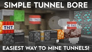 Minecraft Easy TNT Tuฑnel Bore - Make Tunnels Without Mining!