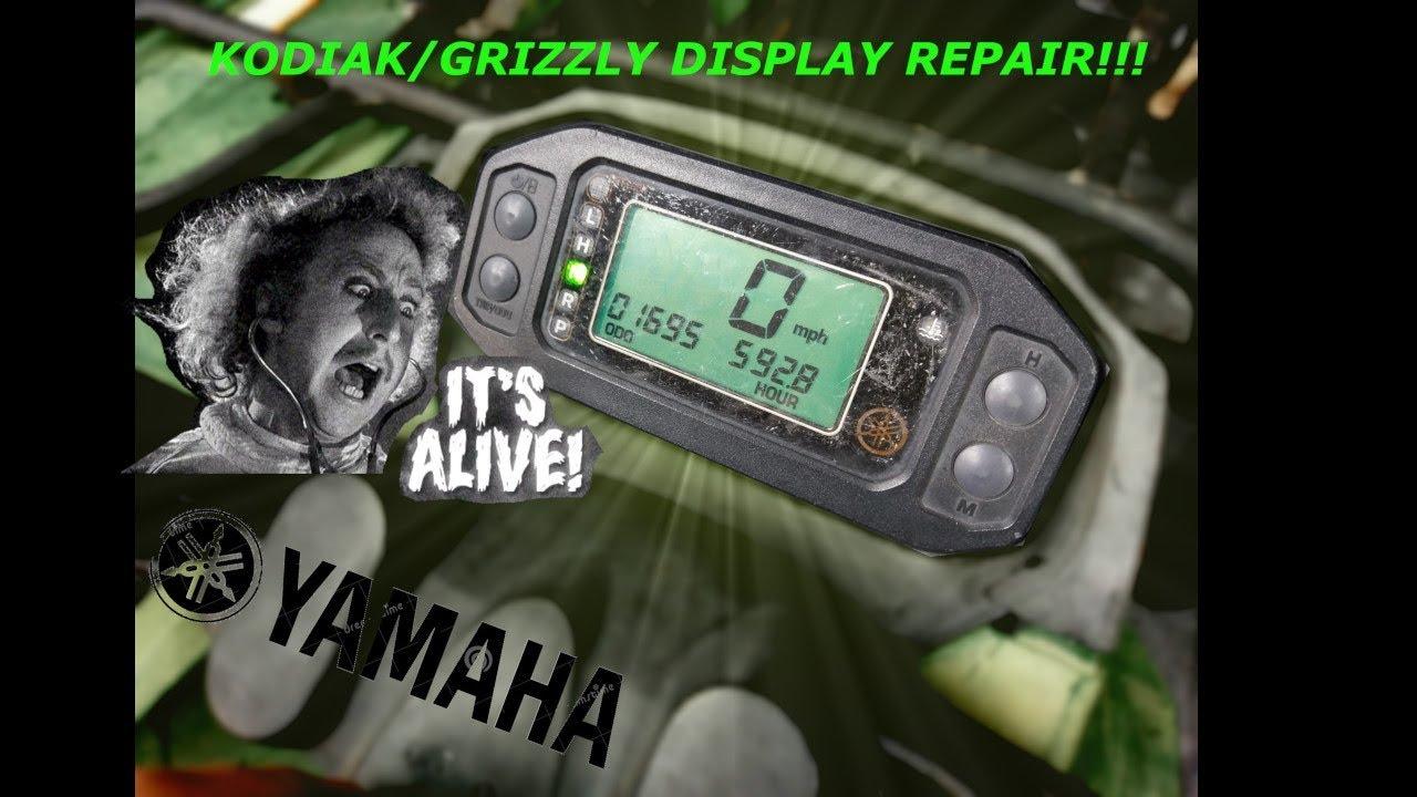 Yamaha Digital display repair!!! Grizzly/Kodiak ATV