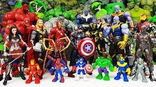 Thanos vs Thor Battle! Avengers Go~! Spider-Man, Iron Man, Hulk, Thor, Hulkbuster
