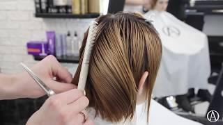 Короткая женская стрижка. Техника слои.