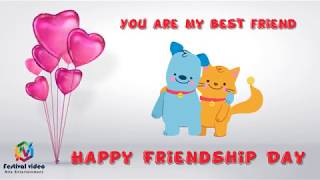 Happy friendship day | wishes video | whatsapp video | cartoon Animation