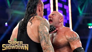 Goldberg drops The Undertaker with two brutal Spears: WWE Super ShowDown 2019