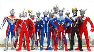 Ultraman's soft vinyl toy Ginga Seven Taro Tiga Victory Zero Leo Dyna Mebius Ace Hikari Zoffy  BAND
