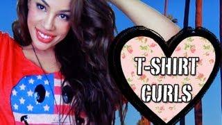 Springtime Curls using a SHIRT! ♥ Heatless! (or semi-heatless)