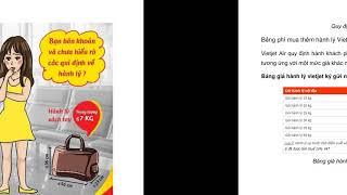 Quy định về hành lý của Vietjet Air - Etrip4u.com