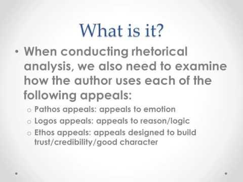 How to write a rhetorical analysis?