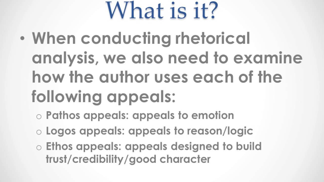 rhetorical analysis essay the study of The rhetorical analysis of that studying this poem made rhetorical analysis finally click for many of my students during our study of essays and speeches.