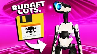 Uploading the Robot Virus in VR! - Budget Cuts Gameplay - VR HTC Vive Pro