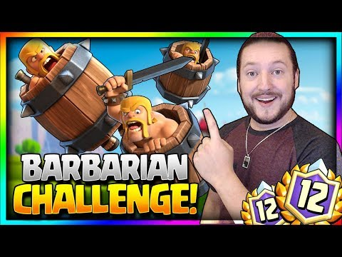 12 WINS BARBARIAN BARREL CHALLENGE!! - NEW CARD UNLOCKED! - Clash Royale Barbarian Barrel Gameplay