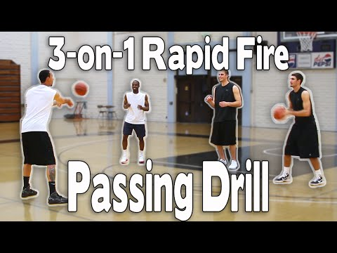 BASKETBALL PASSING DRILL | 3-on-1 RAPID FIRE PASSING | Shot Science Basketball