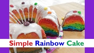 Quick and Easy Rainbow Cake using ONE Bowl