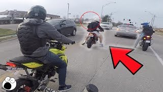 MAN THROWS CIGARETTE AT BIKER!