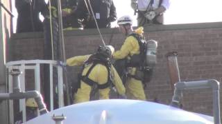 Industrial Accident: Confined Space and HazMat Work by Firefighters at a Methylene Chloride Tank