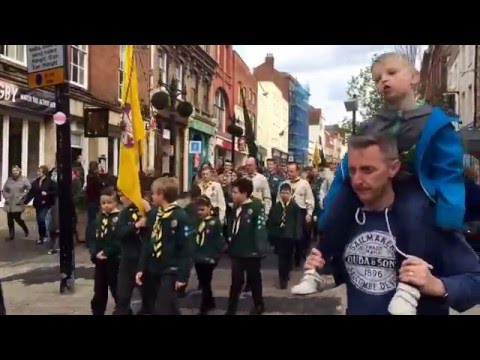 St Georges day parade Gloucester scouts 2016