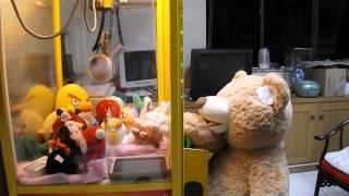 Costco Teddy Bear Plays The Claw Machine