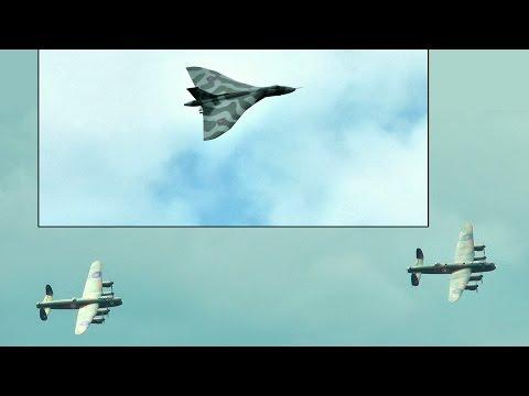 Avro Vulcan & Lancaster Bombers 'Three Sisters' Flypast