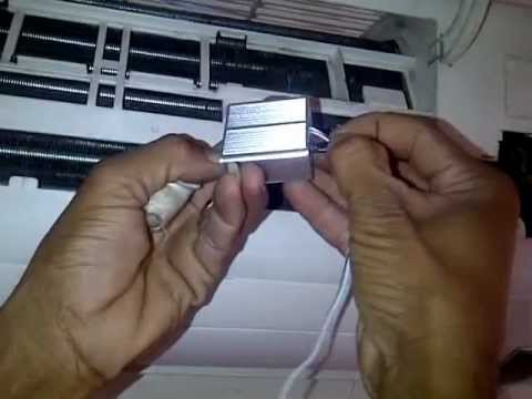 Installation of MEGA Energy Saver for Air Conditioner I