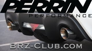 perrin performance cat back exhaust system unboxing install and review 2013 subaru brz