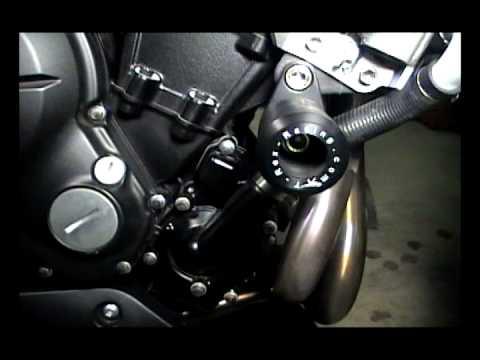 Installing T-Rex Frame Sliders on a 2009 Kawasaki ER6N - YouTube