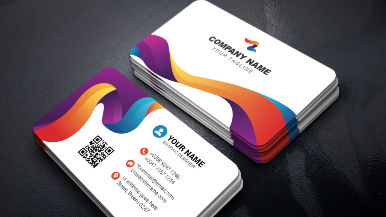 How To Make A Colorful Business Card In Adobe Ilrator