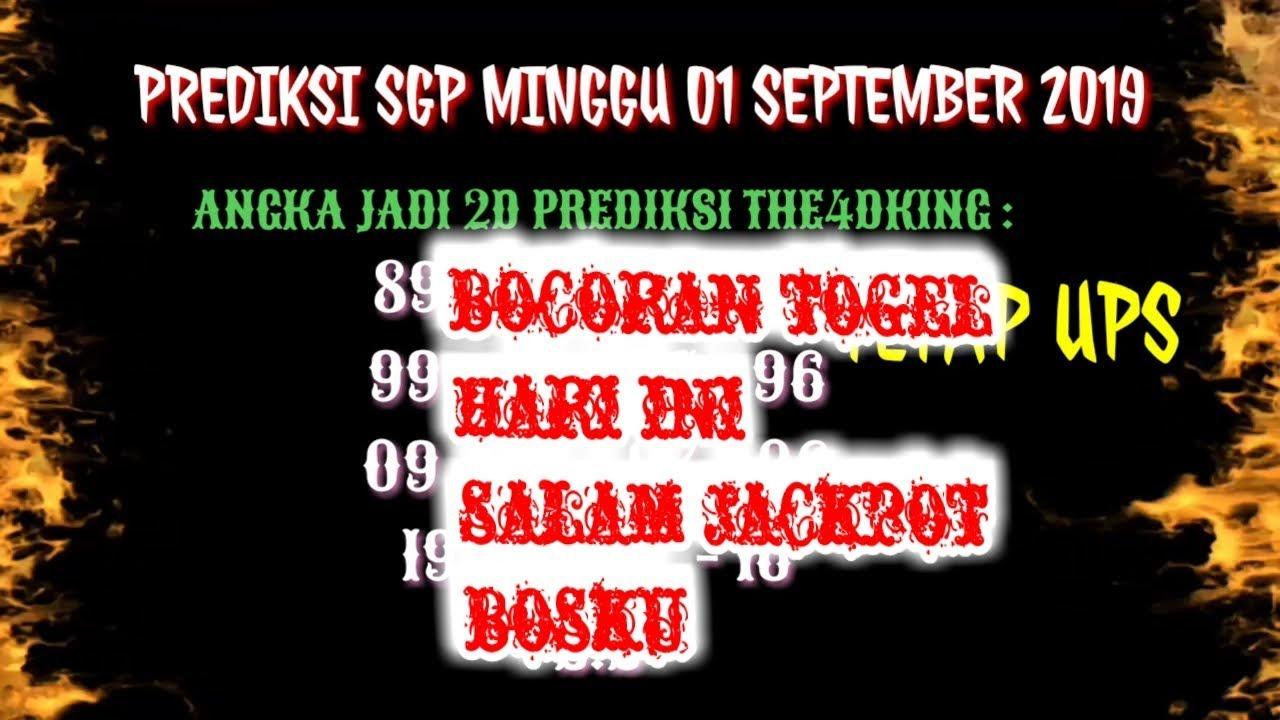 PREDIKSI SGP HARI INI - MINGGU 01/09/19 - BOCORAN TOGEL ...