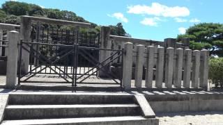 崇神天皇陵 駐車場有 参拝してから周囲を回りましょうね。奈良県天理市柳本町 行燈山古墳