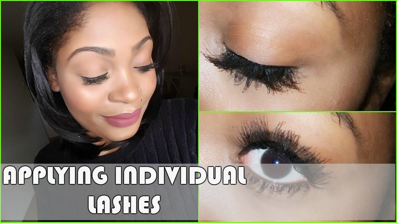61b2be1babb HOW TO: Apply Individual false eyelashes - YouTube