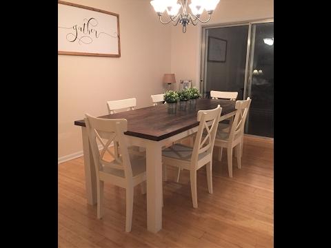 The Easiest Way to Build a Farmhouse Table Diy
