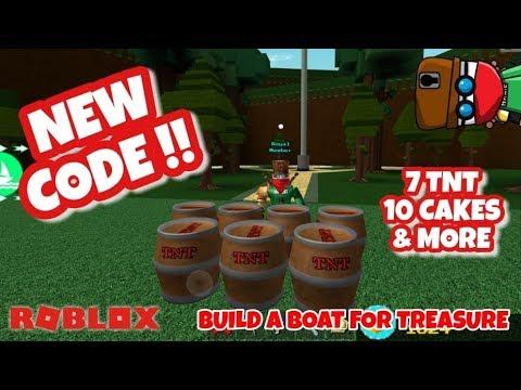 New Tnt Code Roblox Build A Boat For Treasure Youtube