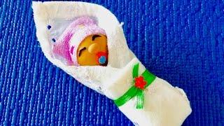 DIY: КАК СДЕЛАТЬ ПУПСИКА ДЛЯ КУКЛЫ 🐞 Пупсик для Барби.