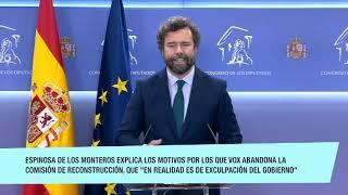 ¡URGENTE! VOX ABANDONA EL CIRCO EXCULPATORIO DEL GOBIERNO